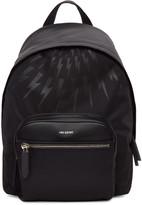 Neil Barrett Black Thunderbolt Day Backpack
