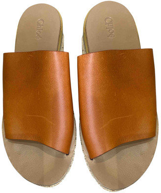 Chloé Camille Camel Leather Sandals