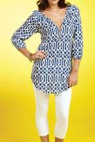 Mud Pie Navy Lattice Tunic