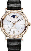 IWC IW459002 Portofino mother-of-pearl and alligator-leather watch