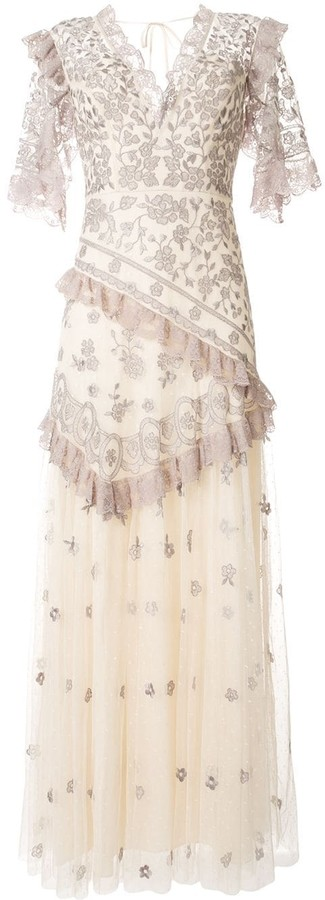 Needle & Thread Floral Embroidered Long Dress