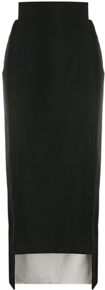 Maison Flaneur Side Slit Pencil Skirt
