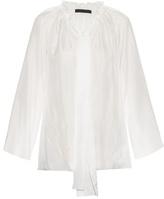 The Row Spira drawstring-neck silk top