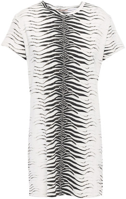 Roberto Cavalli Zebra-print Jersey Mini Dress