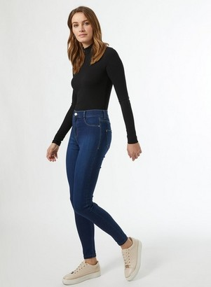 Dorothy Perkins Womens Indigo Authentic 'Frankie' Denim Jeans With Organic Cotton