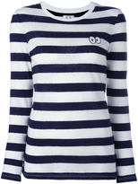 Zoe Karssen striped longsleeved T-shirt - women - Cotton/Linen/Flax - L
