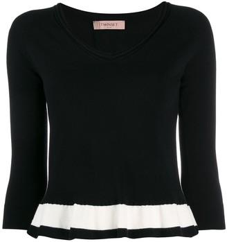 Twin-Set contrasting stripe jumper
