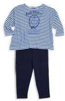 Ralph Lauren Baby's Two-Piece Striped Graphic Top & Leggings Set
