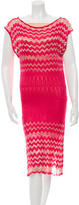 M Missoni Chevron Open Knit Dress