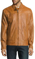 Andrew Marc Perforated Leather Moto Jacket