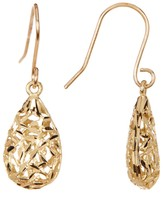 Candela 10K Gold Filigree Teardrop Dangle Earrings