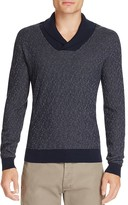 BOSS Baik Cotton Cashmere Shawl Collar Sweater