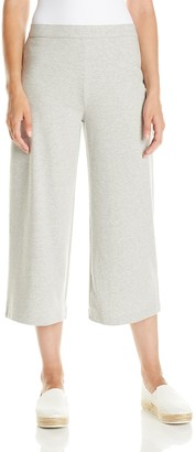 Joan Vass Women's Cropped Wide Leg Pant