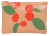 Clare Vivier Bougainvillea Leather Clutch - Pink