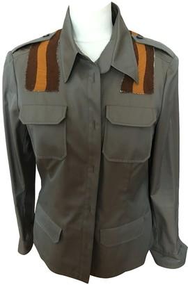 Miu Miu Green Cotton Jacket for Women