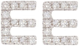 Ron Hami 14K White Gold Diamond Initial Stud Earrings - 0.07 ctw - Multiple Letters Available