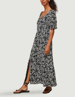 Whistles Jasmine-print silk maxi dress