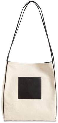 Jil Sander MD BORDER CANVAS SHOPPER