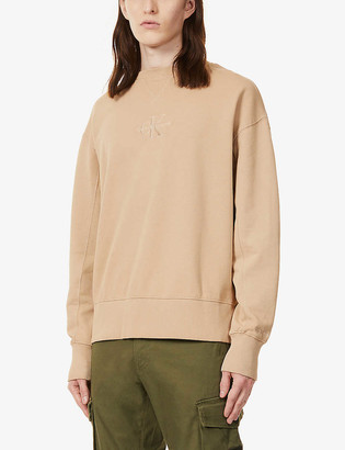 CK Calvin Klein Logo-embroidered cotton-jersey sweatshirt