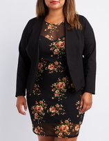 Charlotte Russe Plus Size Lace-Up Back Blazer