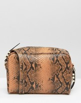 Asos Snake Boxy Shoulder Bag