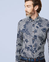 PANDAA Spotted floral cotton shirt