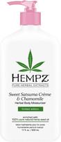 Hempz Limited Edition Sweet Satsuma Creme & Chamomile Herbal Body Moisturizer