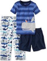 Carter's 3-Pc. Whale-Print Pajama Set, Little Boys (2-7) & Big Boys (8-20)