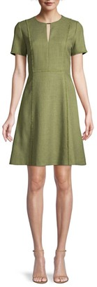 Elie Tahari Ariel Tweed A-Line Dress