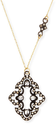Armenta Champagne Diamond Scroll Pendant Necklace