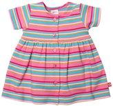 Zutano Multi Stripe Dress (Baby) - Hot Pink-NB