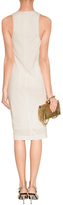 Donna Karan White Draped Jersey Dress