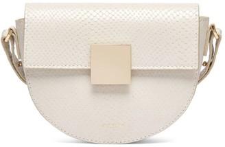 DeMellier Mini Oslo Snakeskin-Embossed Leather Crossbody Bag