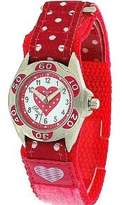 Ravel Girls Polka Dot Nylon Strap Watch