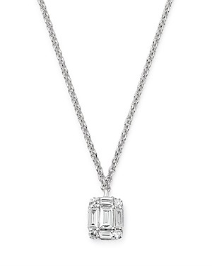 Bloomingdale's Kc Designs 14K White Gold Mini Mosaic Diamond Pendant Necklace, 16
