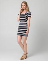 Le Château Stripe Jersey Scoop Neck Mini Dress