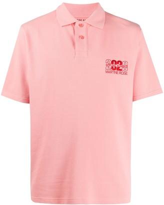 Martine Rose Embroidered Logo Polo Shirt