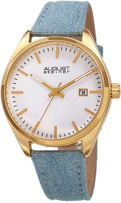 August Steiner Women's Denim Over Leather Watch