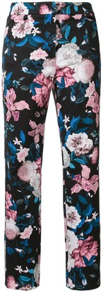 Erdem Sidney floral-print cropped trousers