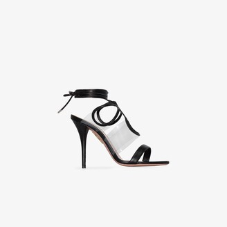 Aquazzura X Browns 50 black Very Sexy Thing 105 sandals
