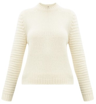 Sara Lanzi Ribbed-knit Merino-blend Sweater - Ivory