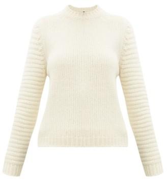 Sara Lanzi Ribbed-knit Merino-blend Sweater - Womens - Ivory