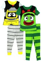 Nickelodeon Yo Gabba Gabba Toddler 4 pc Cotton Pajamas Set