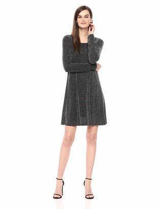 Karen Kane Women's Silver Metallic Chloe Dress Extra Large