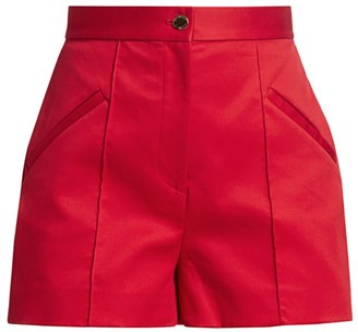 Brandon Maxwell High-Waisted Cotton Shorts