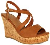 Fashion Focus Cognac Super Wedge Sandal