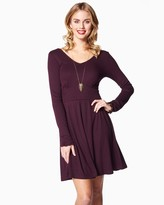 Charming charlie Lovely Ruffle Sleeves Dress