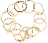 Maison Margiela Crystal Ring Link Bracelet