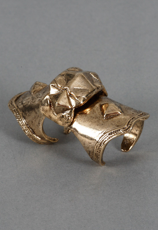 Low Luv x Erin Wasson Armor Knuckle Ring in Gold