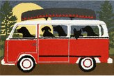 Liora Manné FT123A51624 Whimsy Dogs Fall Travel Rug